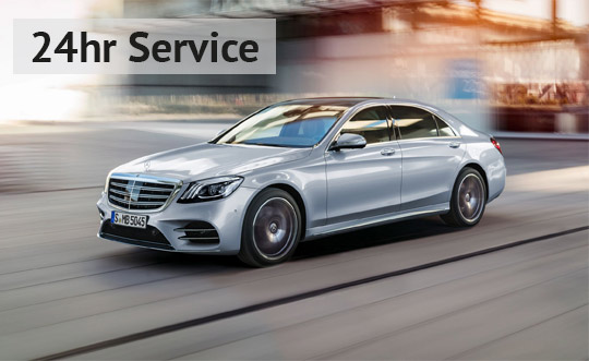 24 hour chauffeur service in Berkshire and the Thames Valley