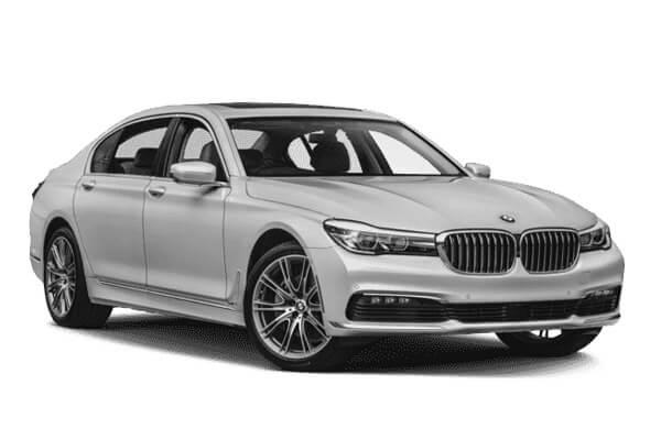 Chauffeur driven BMW 7 series
